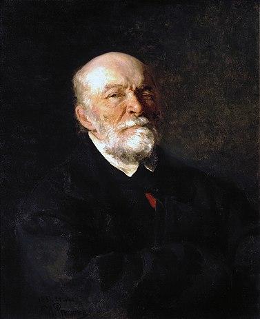 Портрет Николая Пирогова кисти Ильи Репина, 1881 год