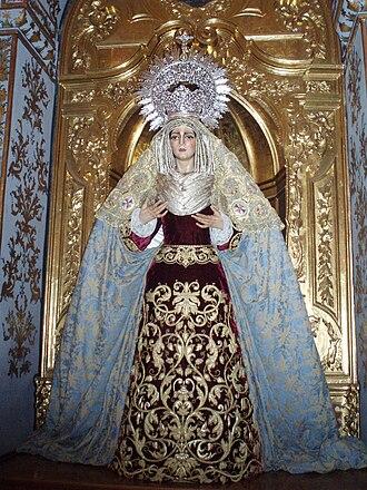 San Juan y Todos los Santos - Image: Imágen de María Santísima de la Trinidad. Iglesia de la Trinidad de Córdoba