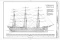 Inboard Profile - Ship BALCLUTHA, 2905 Hyde Street Pier, San Francisco, San Francisco County, CA HAER CAL,38-SANFRA,200- (sheet 5 of 69).png