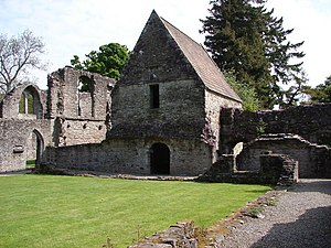Battle of Pinkie Cleugh - Inchmahome Priory on an island in the Lake of Menteith was the safe refuge of the infant Mary during the invasion.