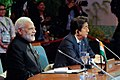 Indian Prime Minister Narendra Modi and Japanese Prime Minister Shinzo Abe listen to the discussions during the Regional Comprehensive Economic Partnership (RCEP) Leaders' Meeting at the Philippine International Convention Center.jpg