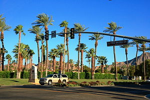 Indian Wells, California - City limit as seen from Palm Desert, California
