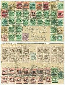 Briefmarken Jahrgang 1923 Der Deutschen Reichspost Wikipedia