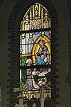 interieur kleine kapel, zuidertransept, glas in loodraam met maria-altaar - lith - 20334116 - rce