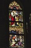 interieur passiekapel, overzicht glas in loodraam - lith - 20334129 - rce