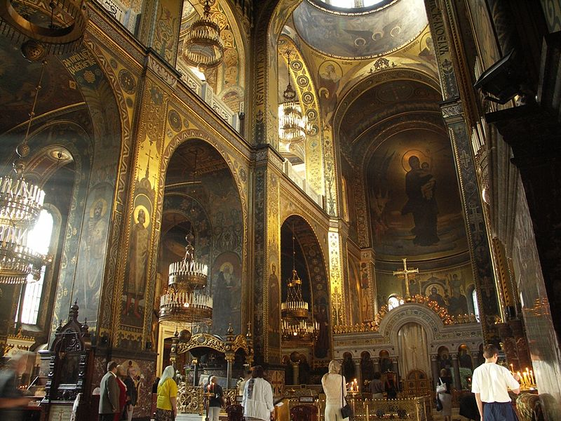 File:Interior of St Volodymyr's Cathedral in Kyiv.jpg