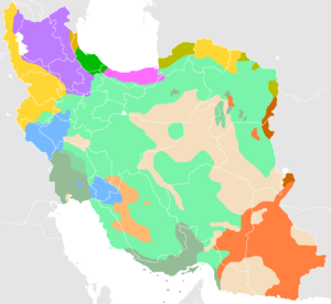 Iran ethnicity distribution map of 2004