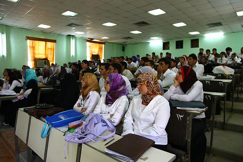 File:Iraqi medical students at Basra University College of Medicine (2010).JPG