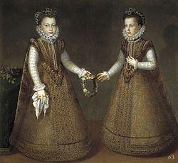Alonso Sánchez Coello: The Infantas Isabel Clara Eugenia and Catalina Micaela
