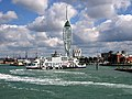 Isle of Wight Ferry in front of Spinnaker Tower - geograph.org.uk - 90961.jpg