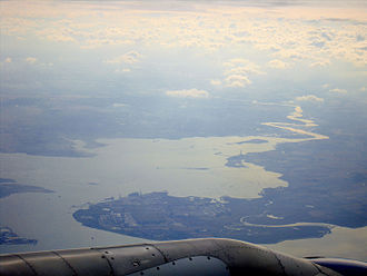 Isle of Grain - Isle of Grain and the Medway Estuary from the air