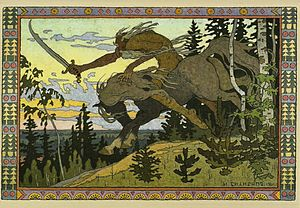 Koschei - Koshchey the Deathless by Ivan Bilibin, 1901.