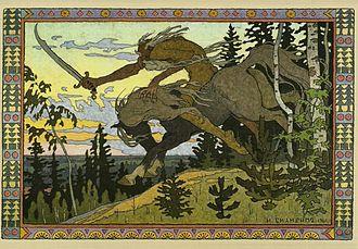 Koschei - Koshchey the Deathless by Ivan Bilibin, 1901.
