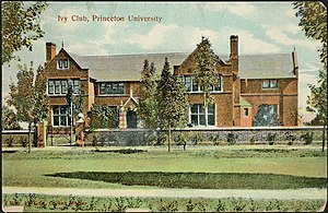 Ivy Club - The current clubhouse as viewed from Prospect Avenue in a 1909 photographic postcard