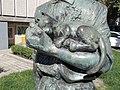 János Balázs statue, cat, 2020 Salgótarján.jpg