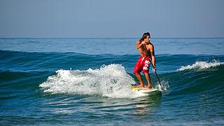 Standup paddleboarding water sport