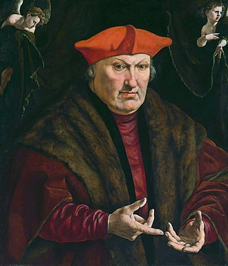"Érard de La Marck - Jan Cornelisz Vermeyen (1500-1559): ""Portrait of Erard de la Marck"""