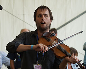 Jon Boden - Jon Boden with Bellowhead at the Cambridge Folk Festival 2009