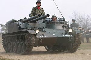 Type 60 Self-propelled 106 mm Recoilless Gun - Komatsu Type 60 Recoilless Gun during winter exercises