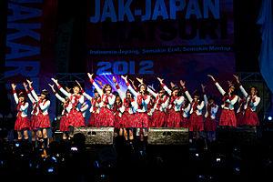 JKT48 - JKT48 performs at Jakarta–Japan Matsuri 2012.