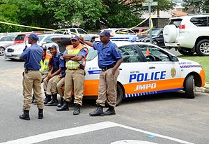 Law enforcement in South Africa - JMPD officers in Houghton Estate