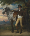 JOHN WOMBWELL WITH A GREY HUNTER.PNG