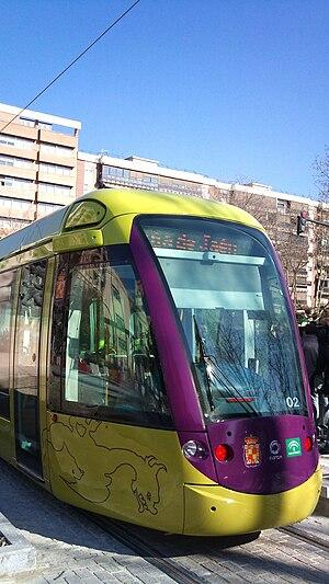 Jaén, Spain - Jaén Tram.