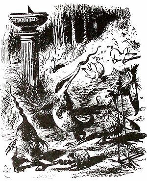 Jabberwocky - John Tenniel's illustration for the poem.