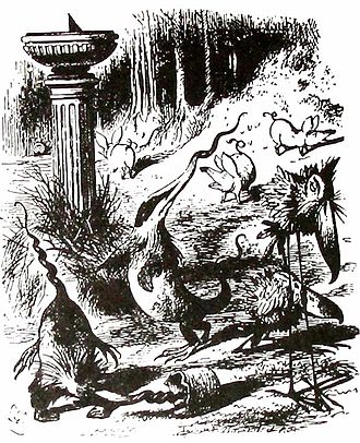 Literary nonsense - John Tenniel's depiction of the nonsense creatures in Carroll's Jabberwocky.