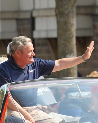 Jack Dalrymple - Dalrymple, at a parade in West Fargo.