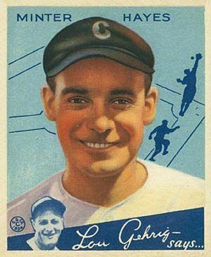 Jackie Hayes (second baseman) - Hayes 1934 Goudey baseball card.