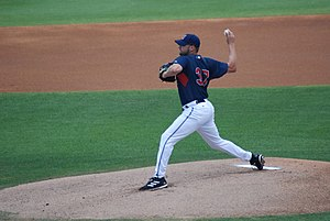 Jake Westbrook - Westbrook pitching for the Cleveland Indians.