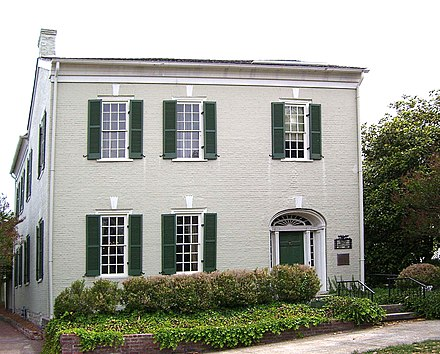The house where Polk spent his young adult life before his presidency, in Columbia, Tennessee, is his only private residence still standing. It is now known as the James K. Polk Home. JamesKPolkHome.jpg