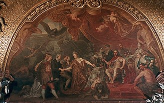 Charlottenburg Palace - Allegory of the acts of peace of Friedrich I by Jan Anthonie Coxie in the Gobelin Gallery