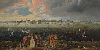 Панорамний пейзаж з Антверпеном