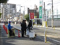 Japanese New Year of Sumiyoshi Station Osaka (02) IMG 8734 R 20150103.JPG