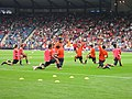 Japanese Players Warm Up @ Hampden.jpg