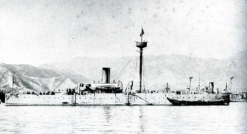 File:Japanese cruiser Saien in 1895.jpg