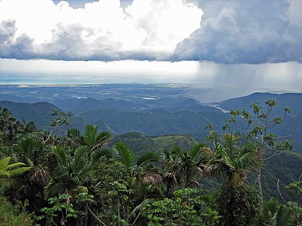 Puerto Rico's south shore, from the mountains of Jayuya Jayuya.jpg