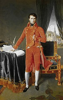 <i>Bonaparte, First Consul</i> Painting by Jean-Auguste-Dominique Ingres
