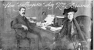 Feminism in France - Jeanne Schmahl visiting the French Premier Aristide Briand in 1909