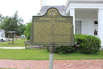 Jefferson Davis Memorial Historic Site - Image: Jefferson Davis historical marker 077 5