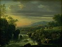 Jens Juel - A Mountainous Landscape with a Waterfall. Sunrise - KMSsp867 - Statens Museum for Kunst.jpg
