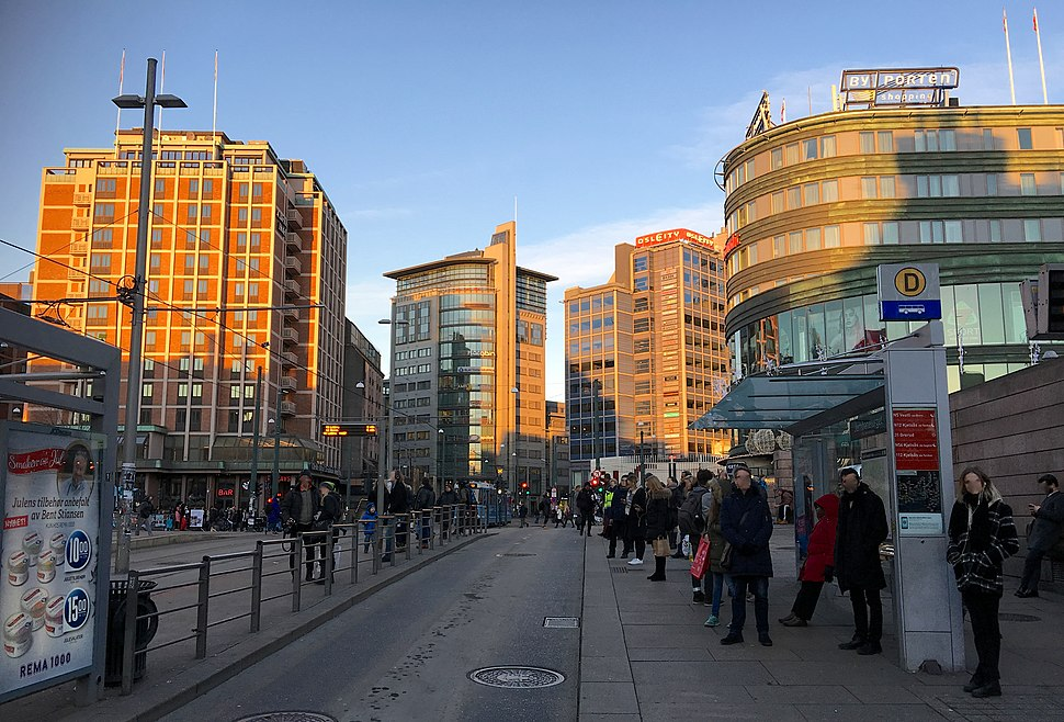 Jernbanetorget Oslo Norway Clarion Hotel Royal Christiania Oslo City Byporten shopping 2016-11-30
