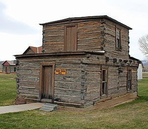 National Register of Historic Places listings in Carbon County, Wyoming - Image: Jim Baker Cabin