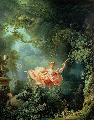 Why does fragonard paint the young lady in the swing as losing a shoe