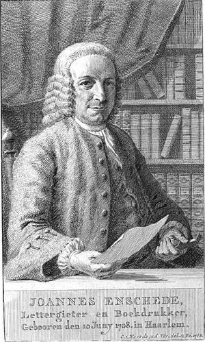 Johannes Enschedé (1708-1780) - Johannes Enschedé aged 60, by Cornelis van Noorde