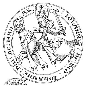 Halnaker - Seal of John St John, lord of the manor of Halnaker, appended to the Barons' Letter, 1301