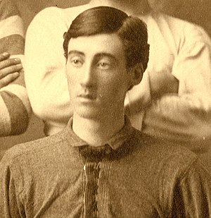1886 Michigan Wolverines football team - Team manager and goalkeeper John Duffy.