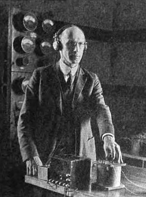 John Milton Miller - Miller operating a radio amplifier